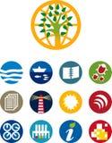 Ícones ambientais (vetor) Fotografia de Stock