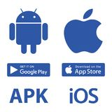 Ícones Android Apple da transferência