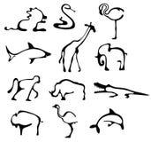 Ícones animais ilustração stock