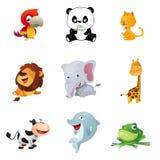 Ícones animais Fotografia de Stock Royalty Free