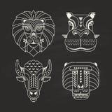 Ícones animais Imagens de Stock