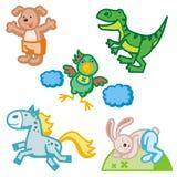 Ícones animais bonitos Fotos de Stock Royalty Free