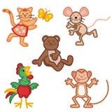 Ícones animais bonitos Imagem de Stock
