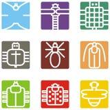 Ícones animais quadrados Fotos de Stock Royalty Free