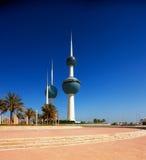 Ícones arquitectónicos do Kuwait City Imagem de Stock