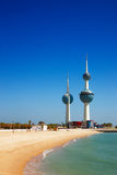 Ícones arquitectónicos do Kuwait City Foto de Stock