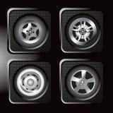Ícones Assorted do pneu Imagens de Stock Royalty Free