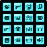 Ícones audio Imagens de Stock Royalty Free