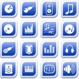 Ícones audio Imagens de Stock