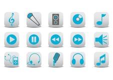 Ícones audio Foto de Stock