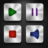 Ícones audio ajustados Fotografia de Stock