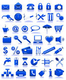 Ícones azuis ilustração stock
