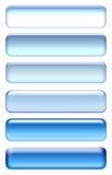 Ícones azuis Foto de Stock Royalty Free