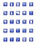 Ícones azuis do Web e do blogue Fotos de Stock Royalty Free