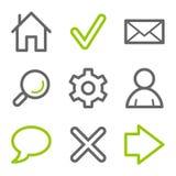 Ícones básicos do Web ilustração royalty free