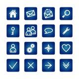 Ícones básicos do Web ajustados Imagens de Stock