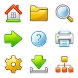 Ícones básicos do Web, série do alfa