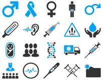 Ícones bicolores médicos Imagem de Stock Royalty Free