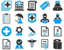 Ícones bicolores médicos Imagens de Stock