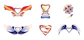 Ícones bonitos ajustados 1 Ilustração do Vetor