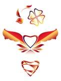 Ícones bonitos ajustados 5: a imagem do coração Fotografia de Stock Royalty Free