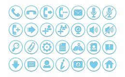 Ícones/botões imagem de stock royalty free