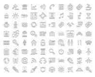Ícones brancos do selo Fotos de Stock
