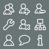 Ícones brancos do Web dos usuários Foto de Stock Royalty Free