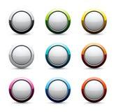 Ícones brilhantes da esfera Imagens de Stock Royalty Free