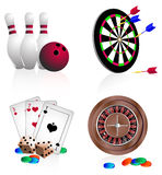 Ícones brilhantes que jogam Imagem de Stock Royalty Free