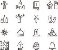 Ícones católicos Foto de Stock Royalty Free