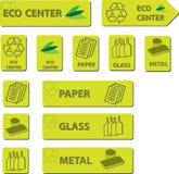 Ícones Center de Eco Imagem de Stock Royalty Free