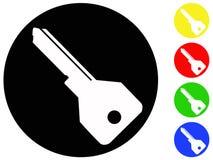 Ícones chaves Imagens de Stock