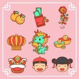 Ícones chineses do ano novo Imagem de Stock