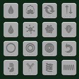 Ícones cinzentos do colchão Imagens de Stock