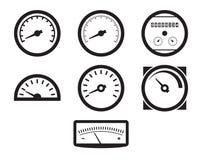 Ícones circulares do medidor Imagem de Stock Royalty Free