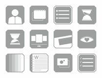 ícones 12 coisas para o negócio fotos de stock
