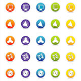 Ícones coloridos 6 do Web (vetor) Fotos de Stock