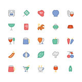 Ícones coloridos alimento 7 do vetor ilustração royalty free
