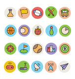 Ícones coloridos básicos 10 do vetor Foto de Stock