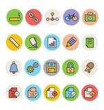 Ícones coloridos básicos 8 do vetor ilustração stock
