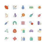 Ícones coloridos ciência 8 do vetor Imagem de Stock Royalty Free