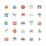 Ícones coloridos curso 11 do vetor fotografia de stock royalty free