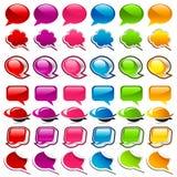 Ícones coloridos da bolha do discurso Fotografia de Stock Royalty Free