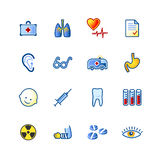Ícones coloridos da medicina Foto de Stock Royalty Free