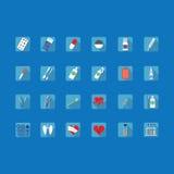 Ícones coloridos de assuntos médicos Imagens de Stock