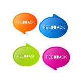 Ícones coloridos do feedback do vetor ilustração royalty free