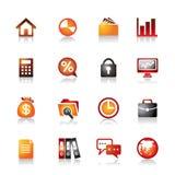 Ícones coloridos do negócio Imagem de Stock