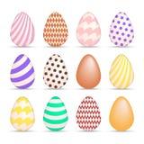 Ícones coloridos do ovo da páscoa ajustados Imagem de Stock Royalty Free