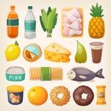 Ícones coloridos do produto ilustração stock
